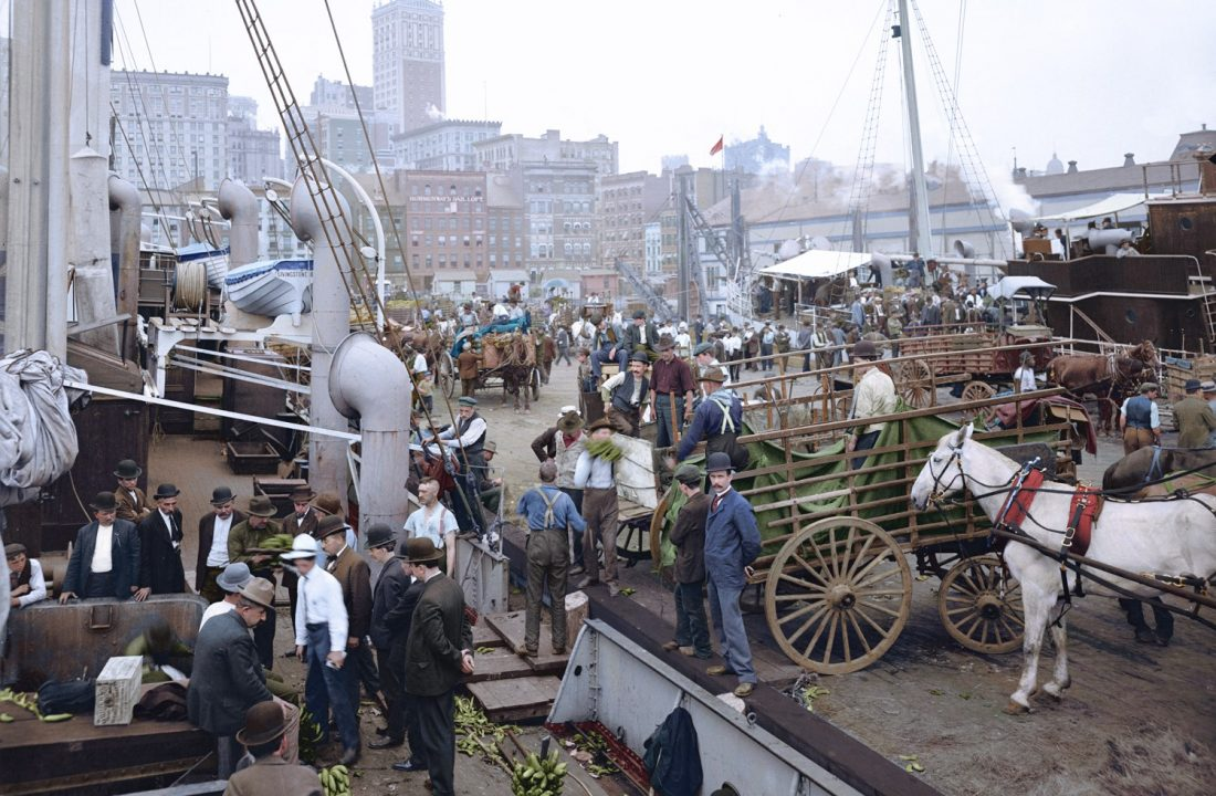 Banana Docks, New York, c.1890 – 1910