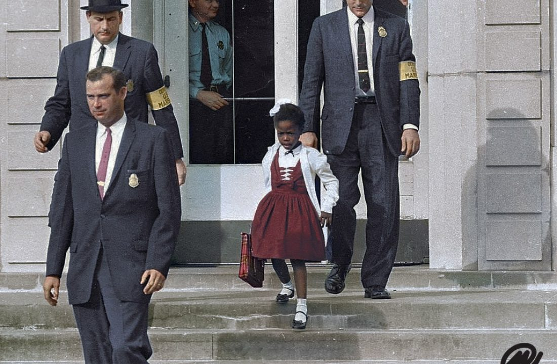 Ruby Bridges Escorted By U.S. Marshals To Attend An All-White School, 1960