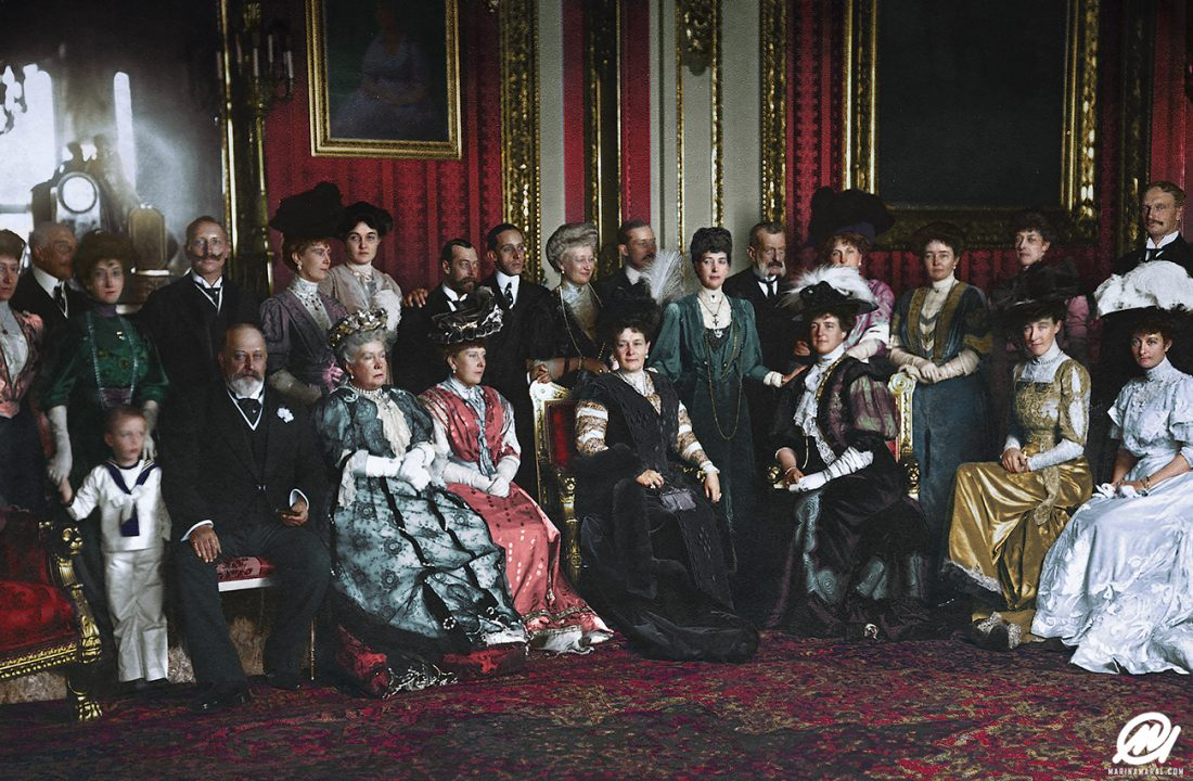 Royal group in the Crimson Drawing Room