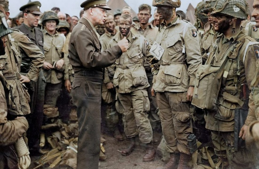 General Dwight D Eisenhower Addressing US Paratroopers
