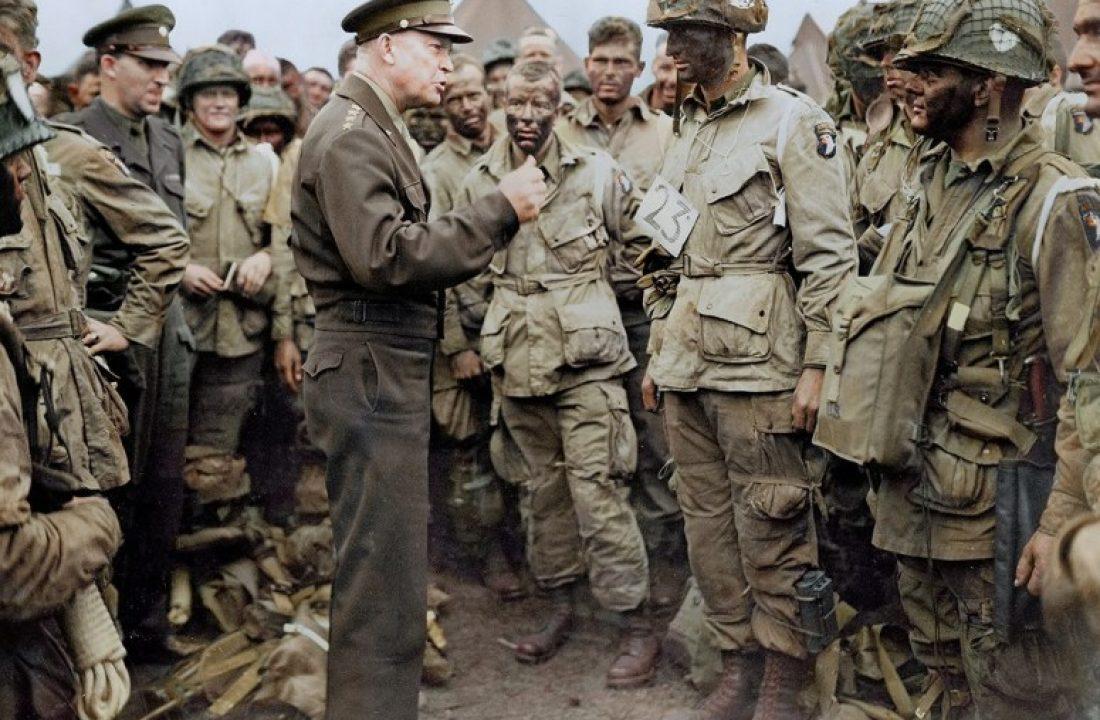 General Dwight D Eisenhower Addressing US Paratroopers