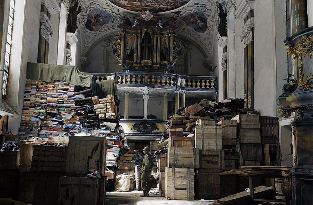 German loot stored in church at Ellingen, Germany, found by troops of the U.S. Third Army