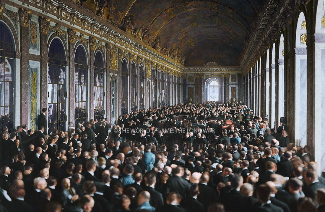 Signing the Treaty of Versailles, 1919